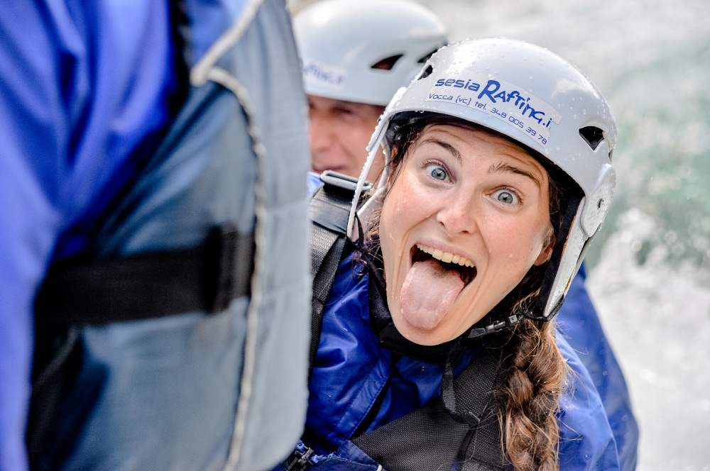 Happy faces for Sesia Rafting clients