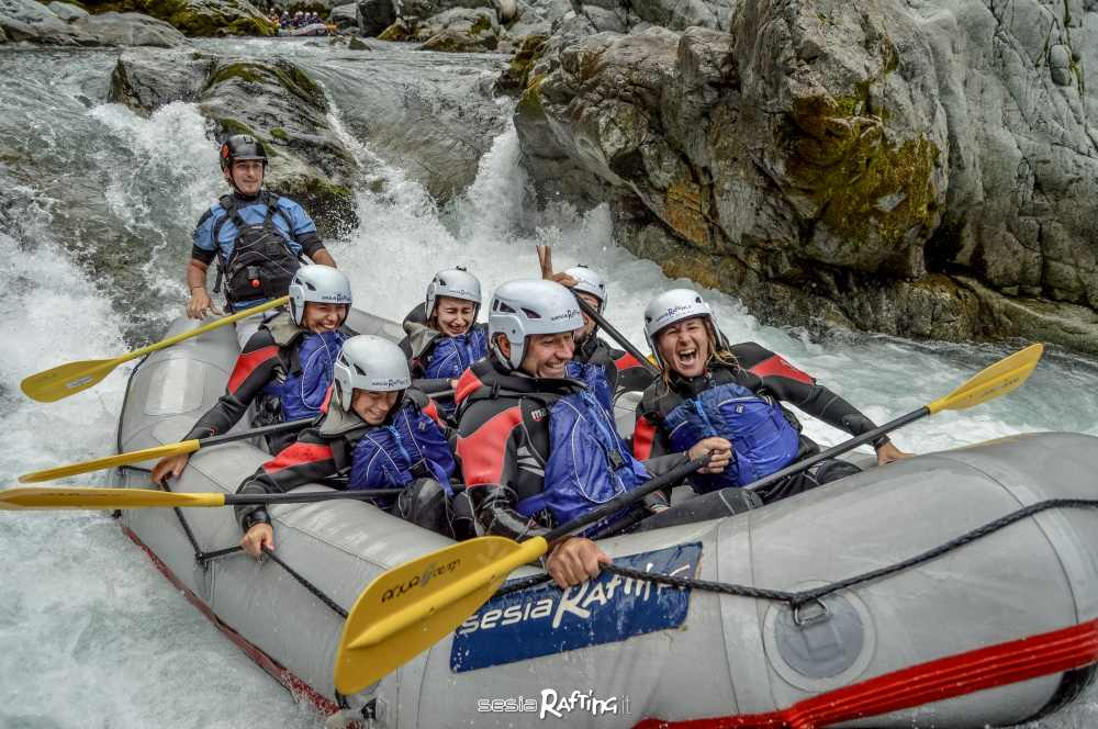 Rafting in the Sesia Gorges with Sesia Rafting ASD