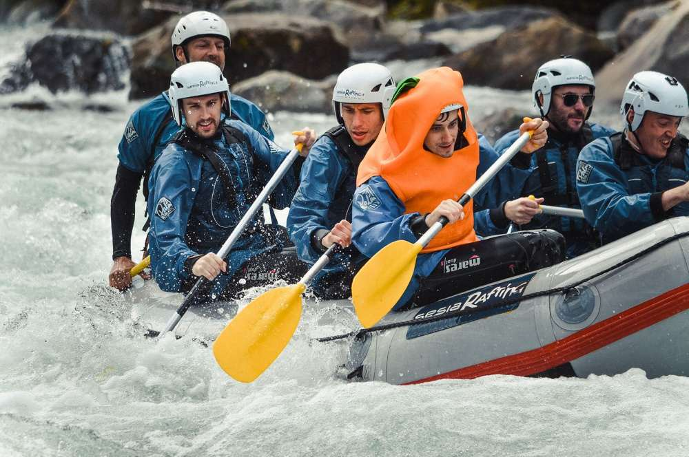 Sesia Rafting a Natural way to celebrate your bachelor party