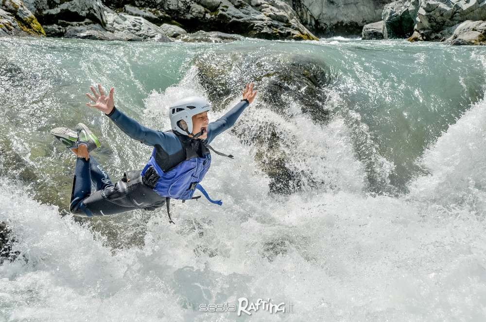 A dip in the fun with Sesia Rafting. Photo taken in Valsesia.